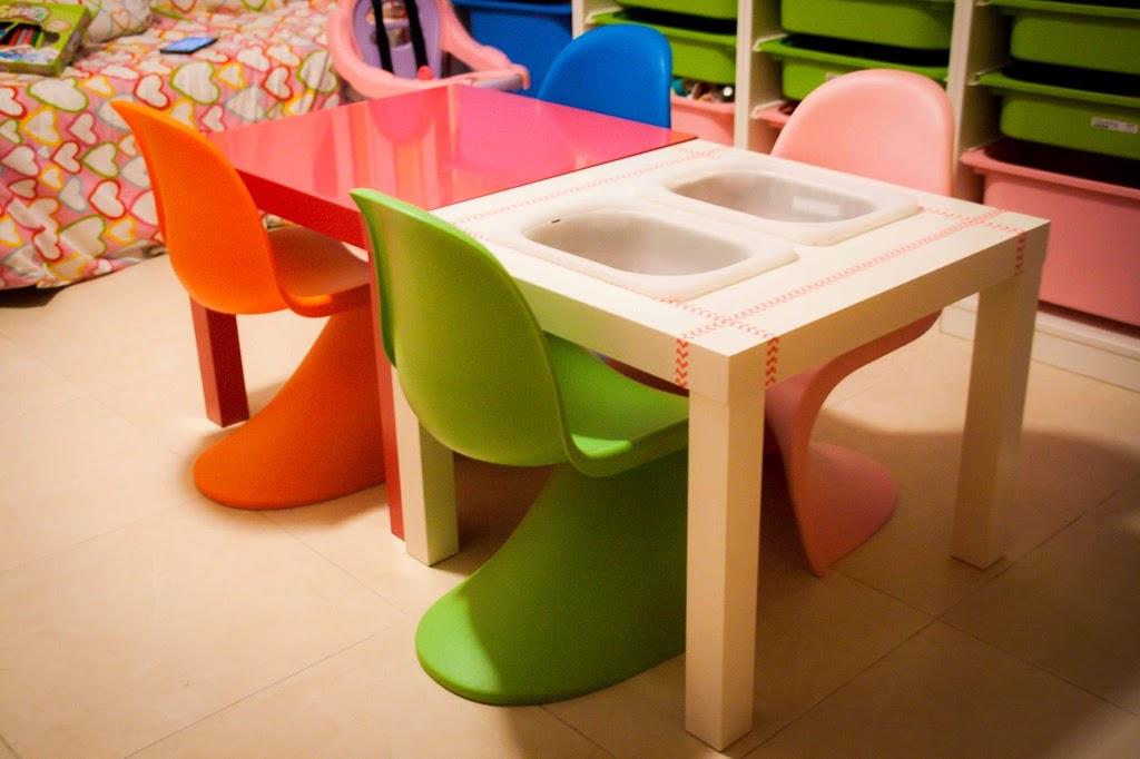 una mesa sensorial diy tigriteando