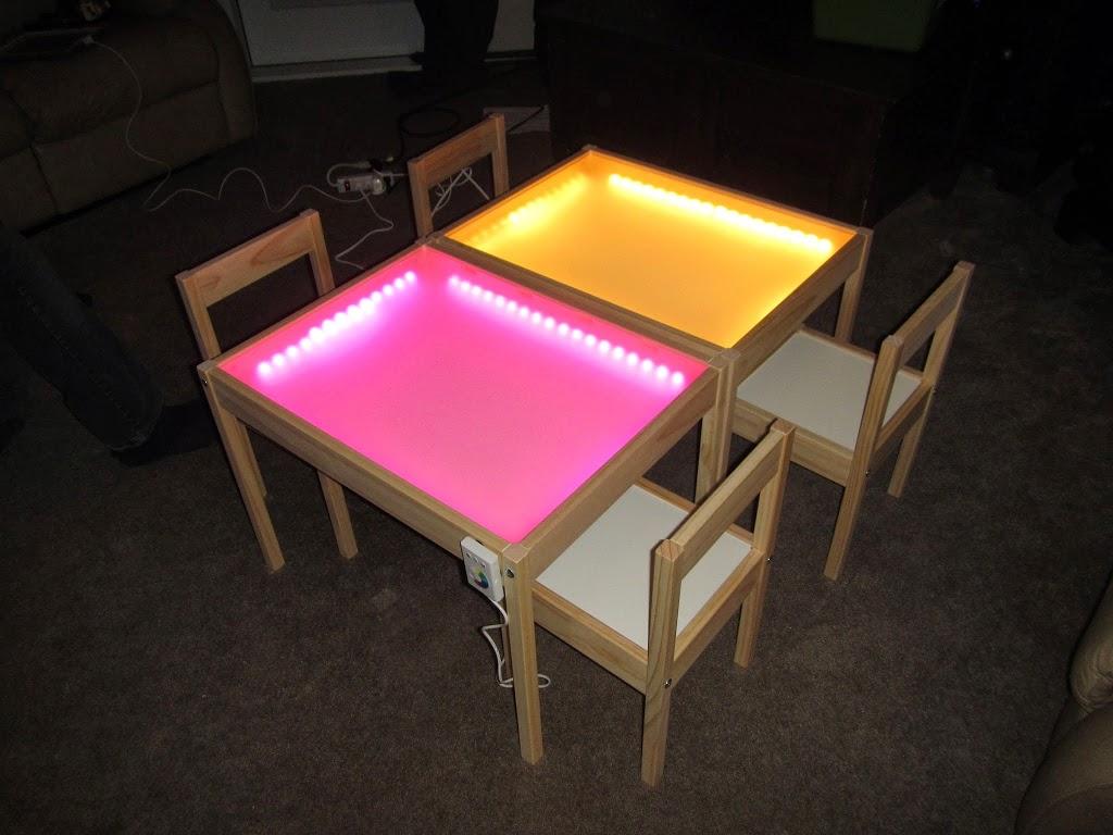 10 formas de construir mesas de luz diy tigriteando for Mesa de dibujo con luz