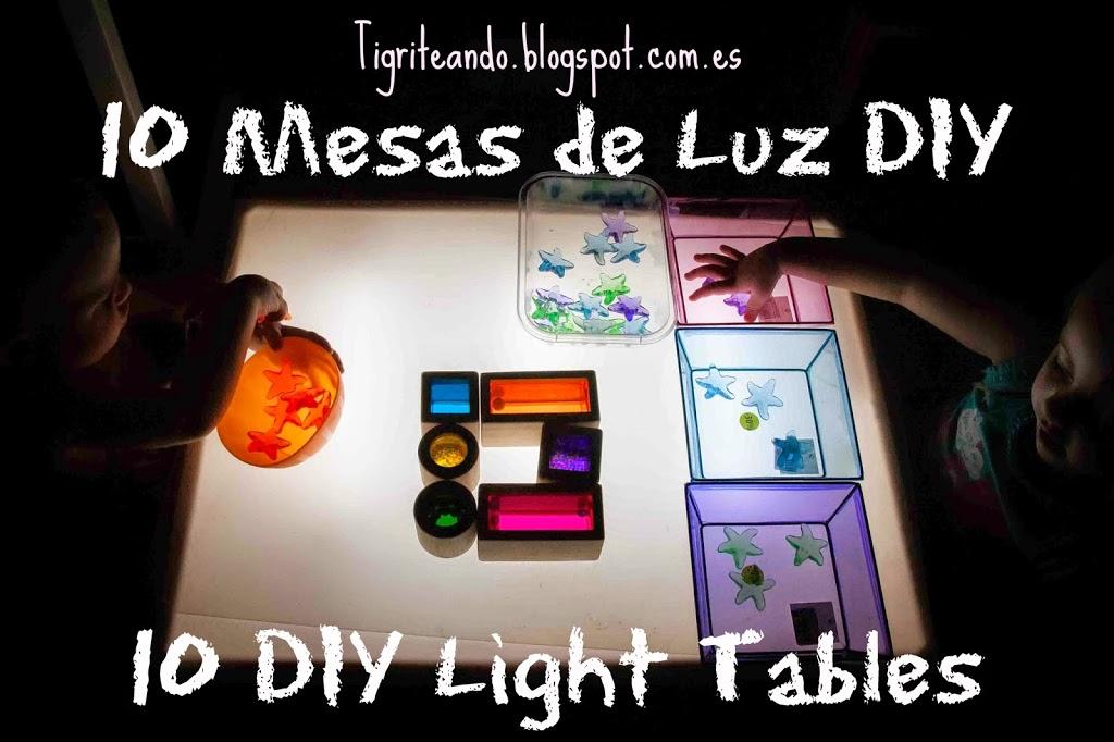 10 formas de construir mesas de luz diy tigriteando for Mesa de luz para dibujo