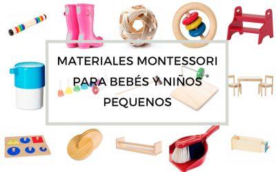Materiales Montessori para bebes y ninos pequenos