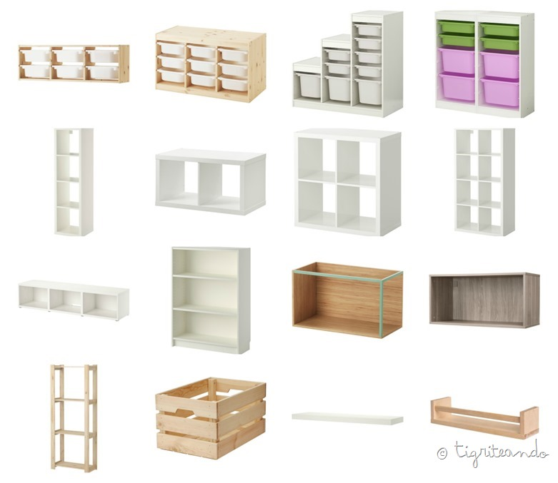 Estanterias montessori como elegir tigriteando for Puertas baratas ikea