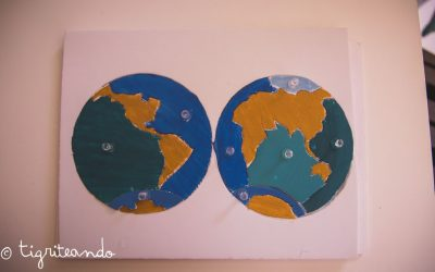 Mapa de los oceanos Montessori