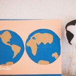 Globo y mapamundi tierra-agua Montessori