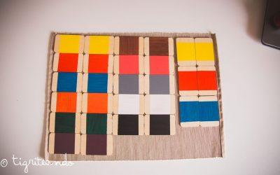 Caja color uno y dos Montessori DIY
