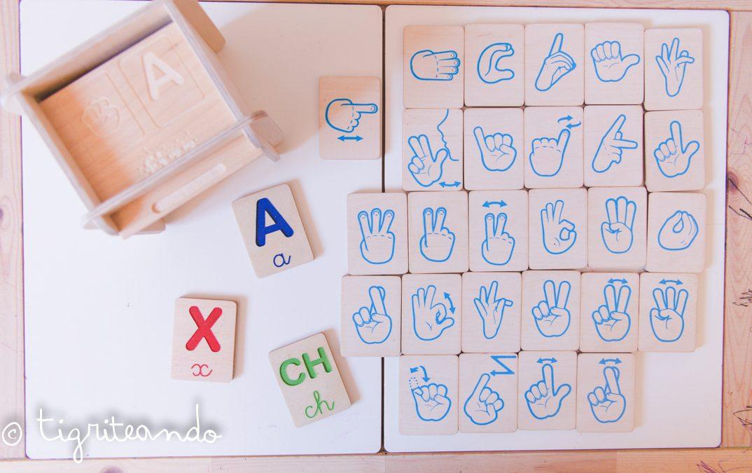 Alfabeto dactilológico de Fizz Ideas