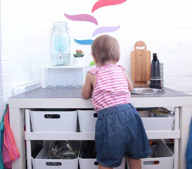 Una cocinita Montessori