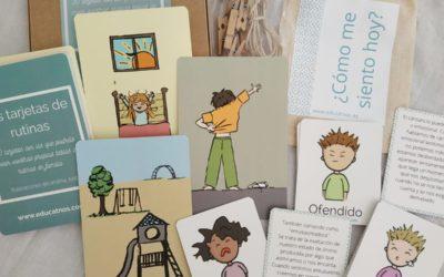Tarjetas de rutinas y emociones de EducaTnos